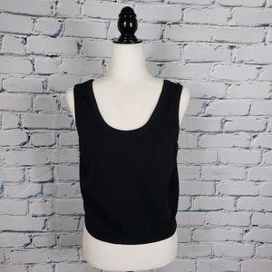 St. John Basic Black Knit Sleeveless Sweater